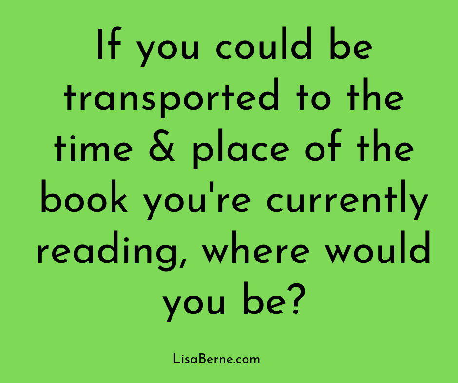 "Graphic: ""If you could be transported . . ."" via Lisa Berne"