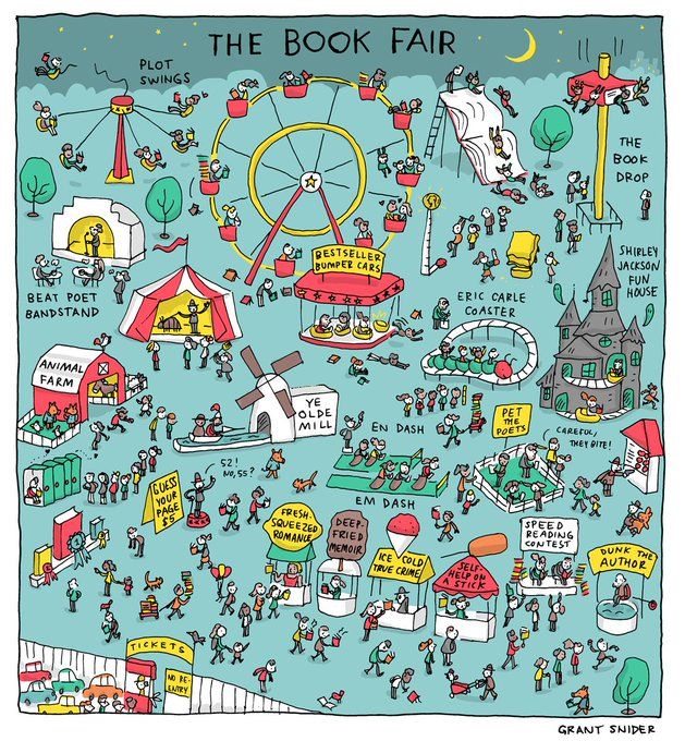 "Comic: ""The Book Fair"" by Grant Snider"