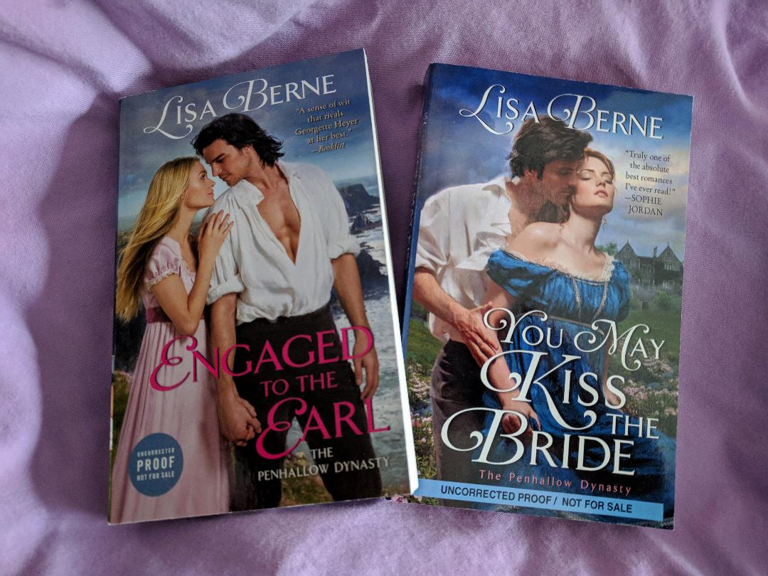 Photo: Engaged to the Earl and You May Kiss the Bride by Lisa Berne (Avon Books)