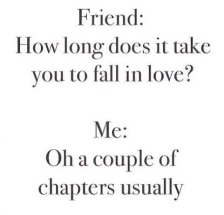 "Graphic: ""How long does it take you to fall in love?"" Via Bookstr; shared via LisaBerne.com"