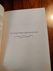Photo: dedication for Engaged to the Earl by Lisa Berne (Avon Books)