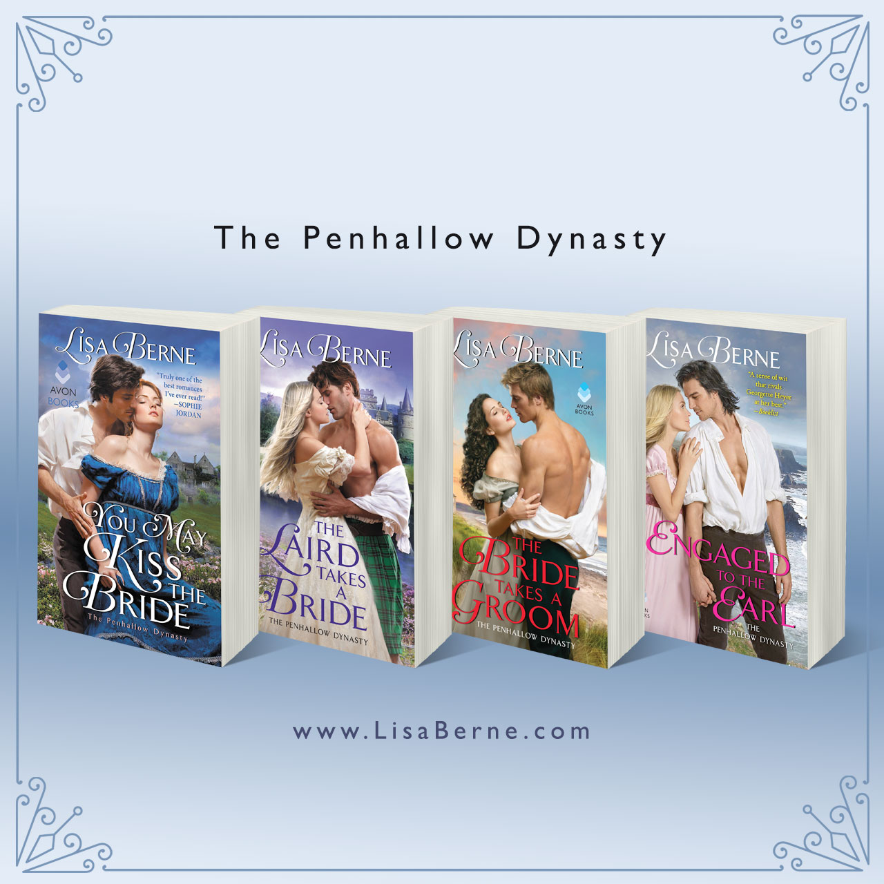Graphic: The Penhallow Dynasty series by Lisa Berne (Avon Books)