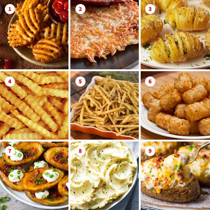 Graphic: various potato dishes