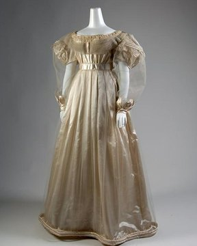 Photo: 1830s evening gown