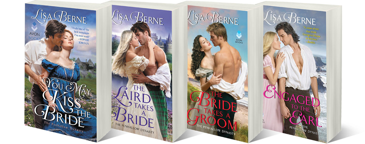 Image: Lisa Berne's Penhallow Dynasty series (Avon Books)
