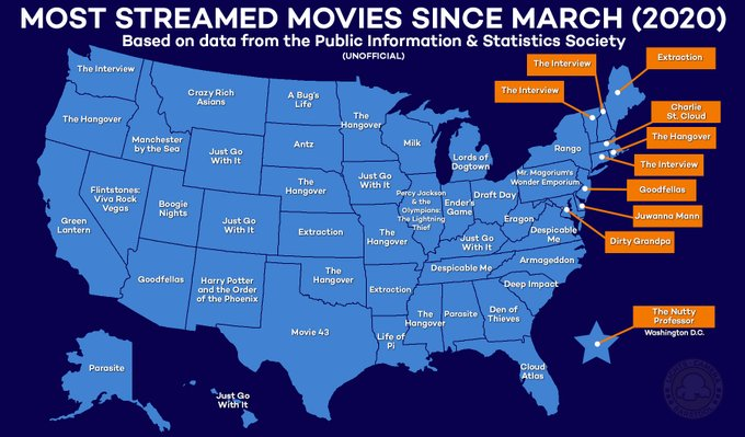 "Graphic: ""Most streamed movies by state"""