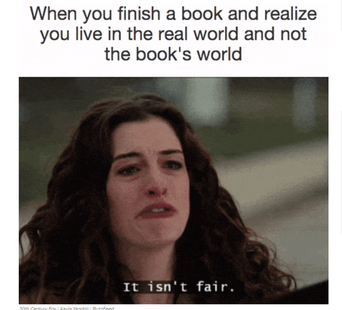"Graphic: ""When you finish a book,"" shared via LisaBerne.com"