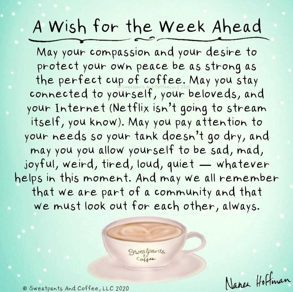 "Graphic: ""A wish for the week ahead"""