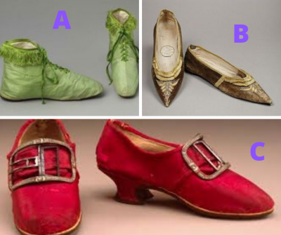 Graphic: historical shoes, shared via LisaBerne.com