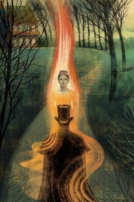 Illustration by Anna and Elena Balbusso for Eugene Onegin by Alexander Pushkin, published by the Folio Society; shared via LisaBerne.com