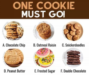 "Graphic: ""One cookie must go,"" shared via LisaBerne.com"
