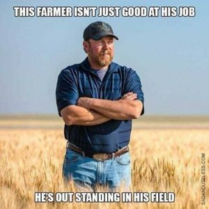 "Graphic: ""This farmer isn't just good at his job,"" shared via LisaBerne.com"
