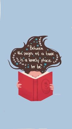 "Graphic: ""Between the pages is a lovely place to be,"" shared via LisaBerne.com"