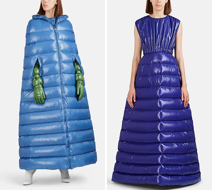 "Photo: ""puffer coat and dress,"" shared via LisaBerne.com"