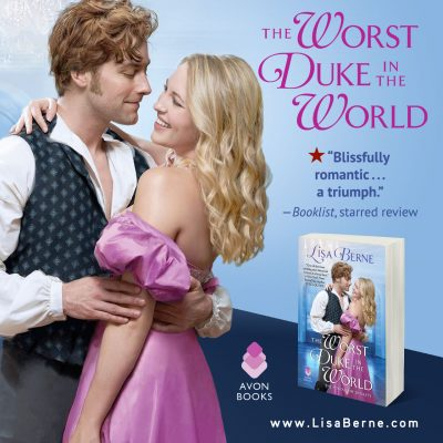Graphic: Booklist starred review for The Worst Duke in the World by Lisa Berne (Avon Books)