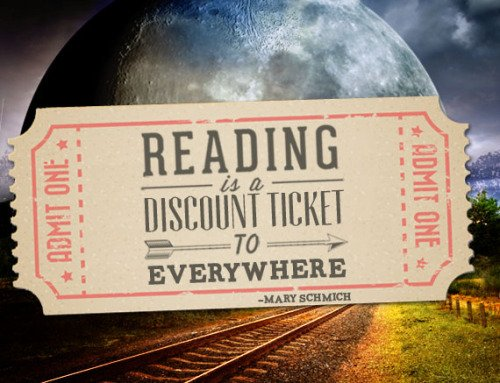 "Graphic: ""Reading is a discount ticket to everywhere,"" shared via LisaBerne.com"