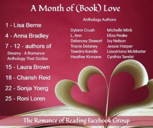 Graphic: A Month of Book Love, shared via LisaBerne.com