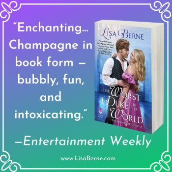 """Graphic: """"Enchanting"""": Entertainment Weekly on The Worst Duke in the World by Lisa Berne (Avon Books)"""