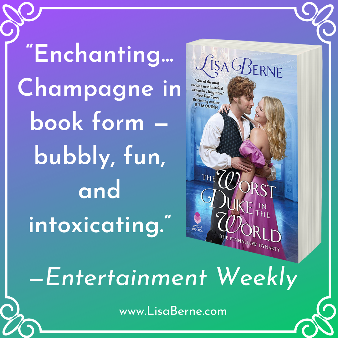 "Graphic: ""Enchanting"": Entertainment Weekly on The Worst Duke in the World by Lisa Berne (Avon Books)"