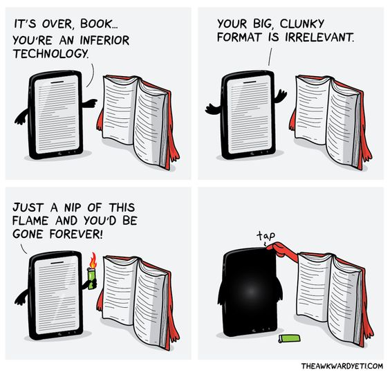 "Comic: ""It's over, book,"" shared via LisaBerne.com"