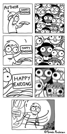 "Comic: ""Happy endings,"" shared via LisaBerne.com"